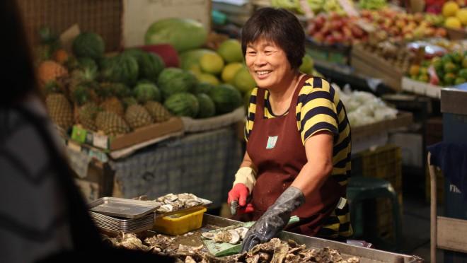 friendly street vendor lady
