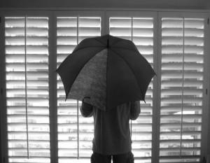 open an umbrella indoors