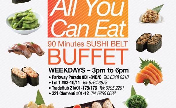 Sakae Sushi Promotion: S$15 All-You-Can-Eat Sushi Buffet