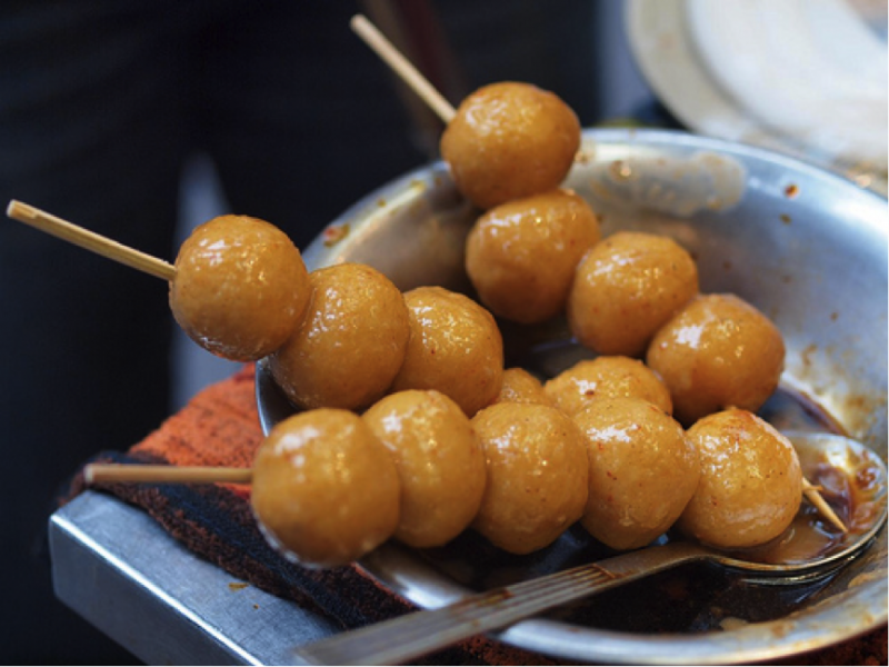 Curry Fish Balls Street Food