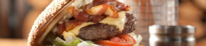 The Chop House's BBQ Beef, Bacon & Cheddar Burger