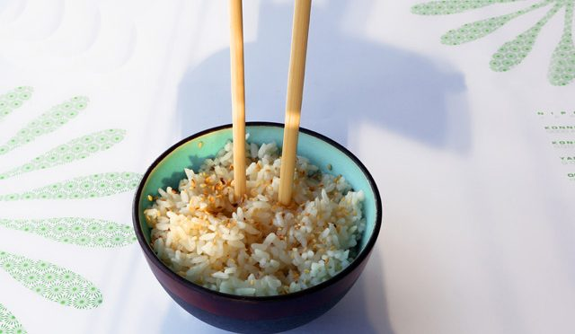 Chopsticks On Rice